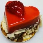 Πάστα σοκολάτα - φράουλα σε σχήμα καρδιάς