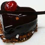 Πάστα σοκολατίνα σε σχήμα καρδιάς