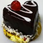 Πάστα σοκολάτα - μπανάνα σε σχήμα καρδιάς