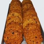 Μπισκότα ολικής άλεσης με βρώμη, cranberries και choco chips