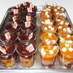 Πορτοκαλοπιτάκια με σοκολάτα και προφιτερολάκια καραμέλα