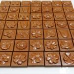 Σοκολατάκια γάλακτος σε διάφορα σχέδια