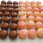 Σοκολατάκια πραλίνα σοκολάτα και φράουλα