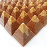 Πυραμίδες γάλακτος με γέμιση καραμέλα