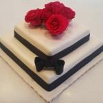 Τούρτα Γάμου Αληθινή Τετράγωνη διώροφη
