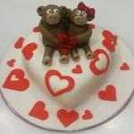 Τούρτα Καρδιά με αρκουδάκια