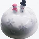 Τούρτα Χιονανθρωπάκια