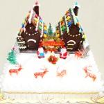Τούρτα Χριστουγεννιάτικα σπιτάκια