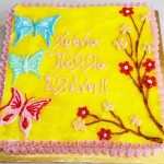 Τούρτα με ζωγραφισμένες πεταλούδες