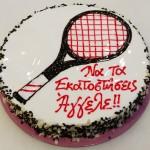 Τούρτα ρακέτα τέννις 2
