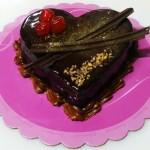 Τούρτα Σοκολάτα με Πραλίνα σε σχήμα καρδιάς