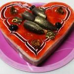 Τούρτα Σοκολάτα - Φράουλα σε σχήμα καρδιάς