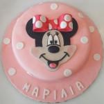 Τούρτα Minnie με πάστα ζάχαρης 5