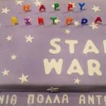 Τούρτα Star Wars με πάστα ζάχαρης