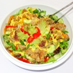 Σαλάτα φρέσκων λαχανικών με σως μουστάρδας